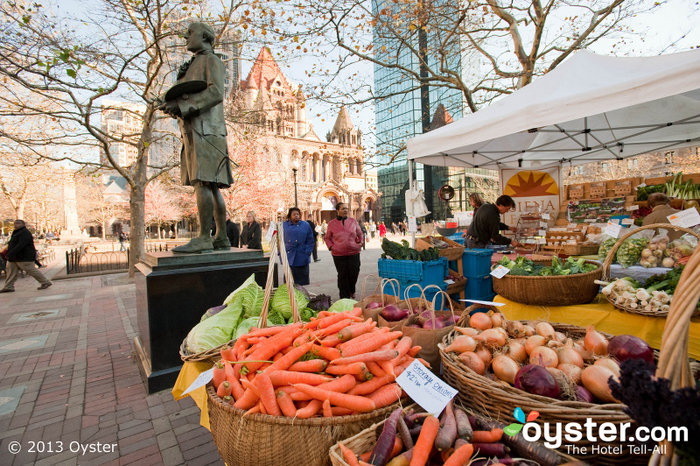 Fresh produce at the Copley Square Farmers Market