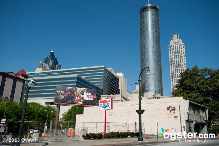 Uma vista do centro de Atlanta