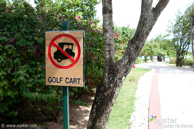 """""""No Golf Carts. (That's a Golf Cart, by the Way.)"""""""