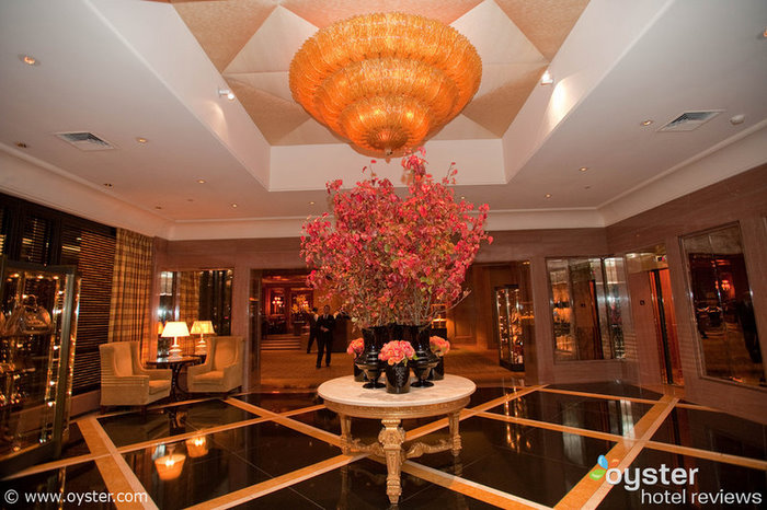 Lobby of the Four Seasons Boston, which is currently offering a third night free promotional deal