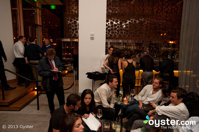 The W Lounge is popular among young professionals.