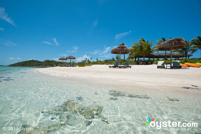The gorgeous Fowl Cay Resort feels more like a private home than a hotel.