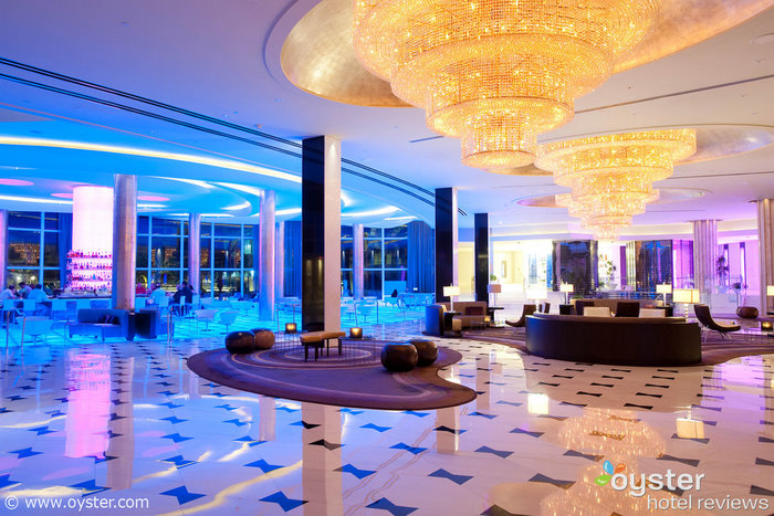 Lobby at Fontainebleau Resort Miami Beach, one of the hotels hosting events for Food Network's South Beach Wine & Food Festival