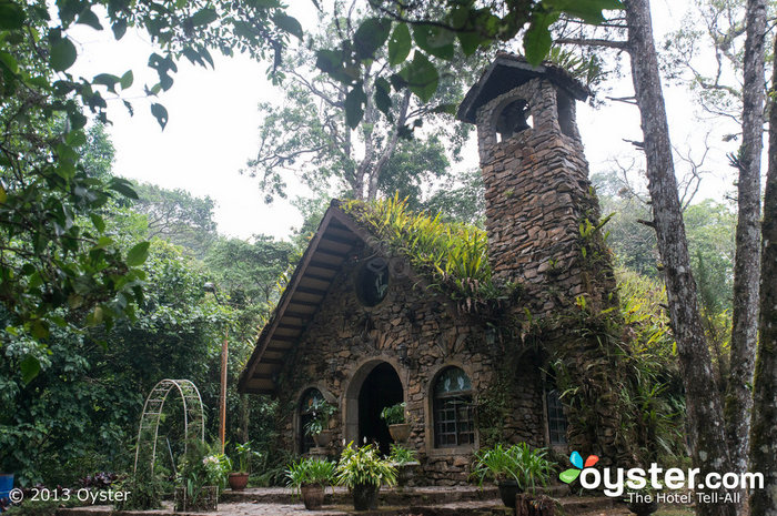 Chapel in the middle of a rainforest? Check that off your list.