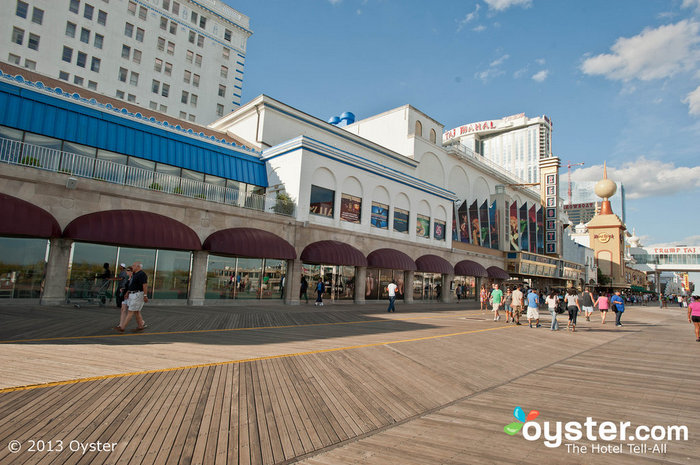 Grab some taffy on the Atlantic City Boardwalk outside of Resorts Casino