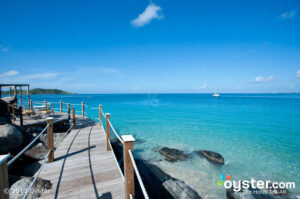 Look at the water! Guests can see the crystal blue ocean from just about everywhere on the property.