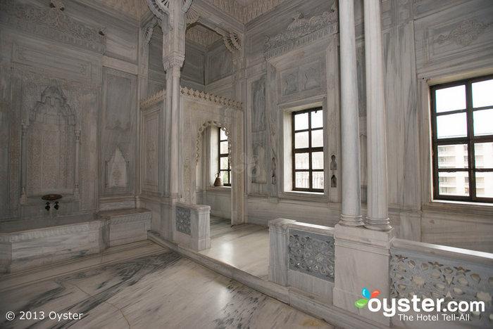 O hammam histórico no Ciragan Palace é mais usado como um local de eventos hoje.