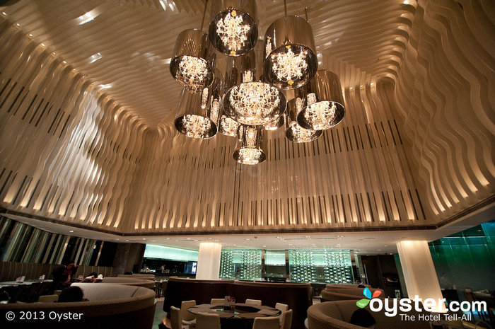 Yamm restaurant shows off the hotel's futuristic design style.