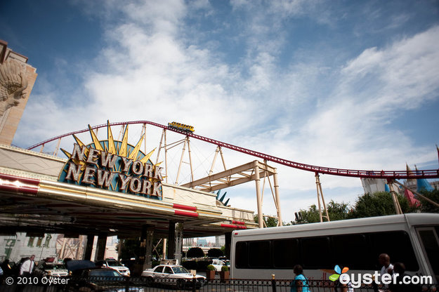 Roller coaster at New York New York Hotel & Casino, Las Vegas