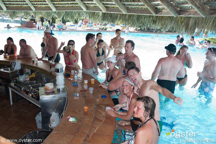 Swim-up bar at the Barcelo Bavaro Palace, a popular spring break resort in the Dominican Republic.