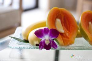 In-room welcome gift at the Halekulani on Oahu.