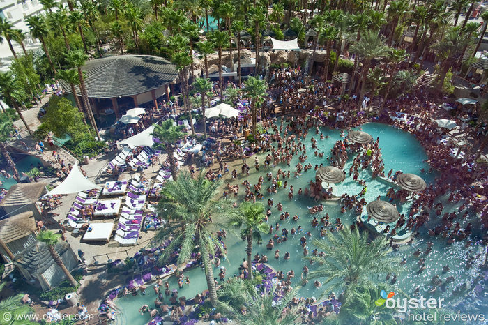 The pool won't be open on Valentine's Day, but the Hard Rock Hotel & Casino knows how to throw a good party in any season.