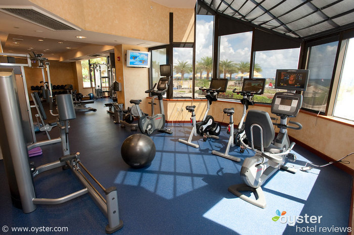 Fitness center at the Marriott Harbor Beach Resort and Spa