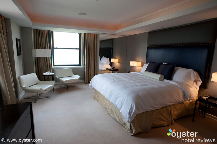 The Jumeirah Essex House Presidential Suite has one master bedroom and one guest bedroom.