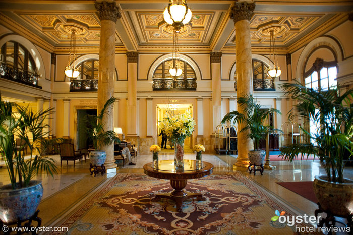 The lobby at the Willard in D.C., where the word