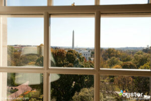 The Obamas had a view of the White House when they stayed at The Hay-Adams in the weeks leading up to the President's inauguration