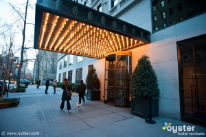 Entrance at the Gramercy Park Hotel, more jazzed up than when it appeared in Almost Famous