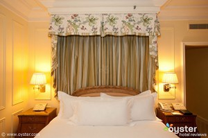 The Peninsula, one of LA's top luxury hotels, outfitts its beds with 300-thread-count Fili D'oro sheets.