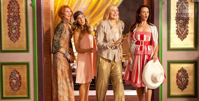 """La reacción de Carrie, Miranda, Samantha y Charlotte al registrarse en su suite en """"Sex in the City 2"""""""
