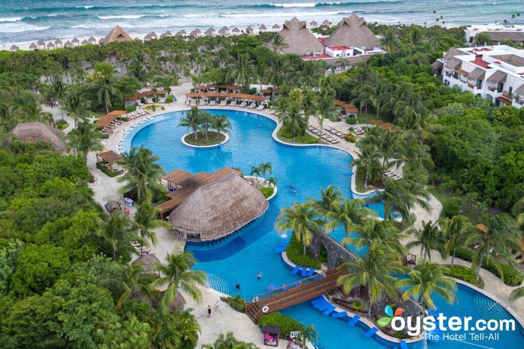 Veduta aerea di Valentin Imperial Maya