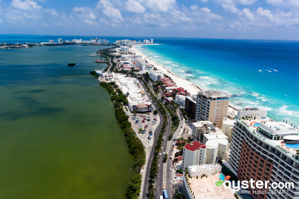 Aerial View at Melody Maker Cancun/Oyster