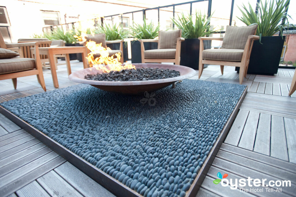 The solution for SF's chilly fog? A fire pit with a view.