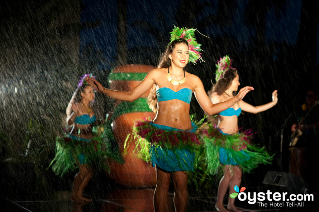 Hula dancers at the Grand Hyatt Kauai Resort & Spa