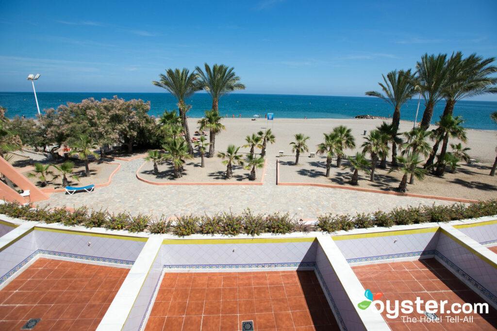 Beach view at Vera Playa Club Hotel, Andalucia, Spain