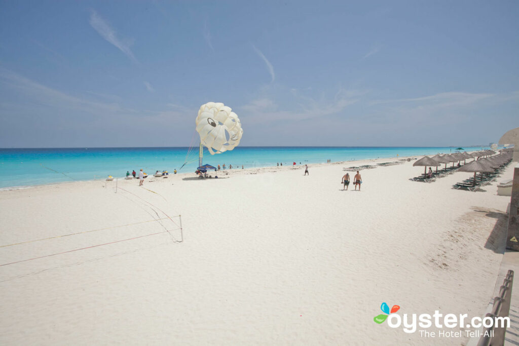 Parasailing at Hard Rock Hotel Cancun