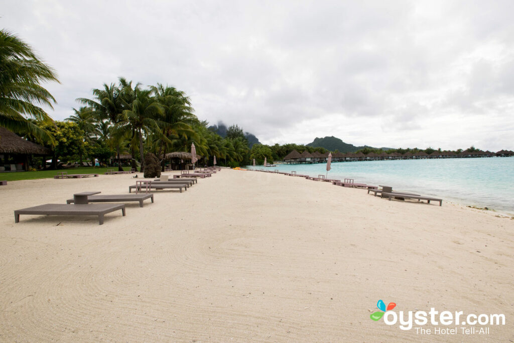 Beach at The St. Regis Bora Bora Resort/Oyster