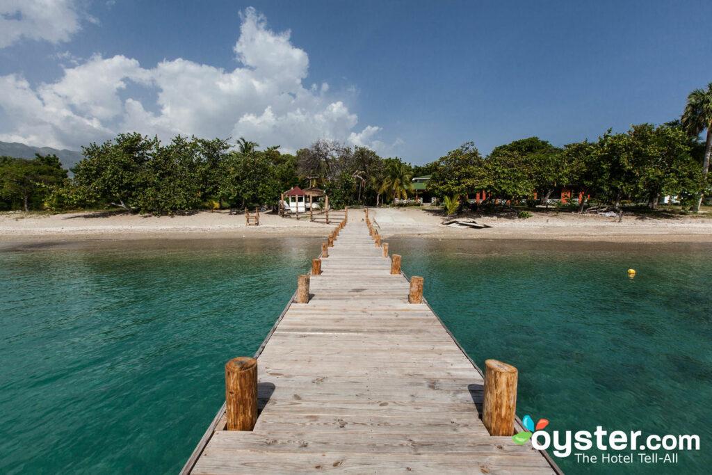 The pier and beach at Royal Decameron Indigo Beach Resort & Spa, Cote des Arcadins