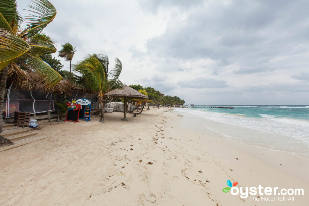 Beach at Paradise Beach Hotel, Honduras/Oyster