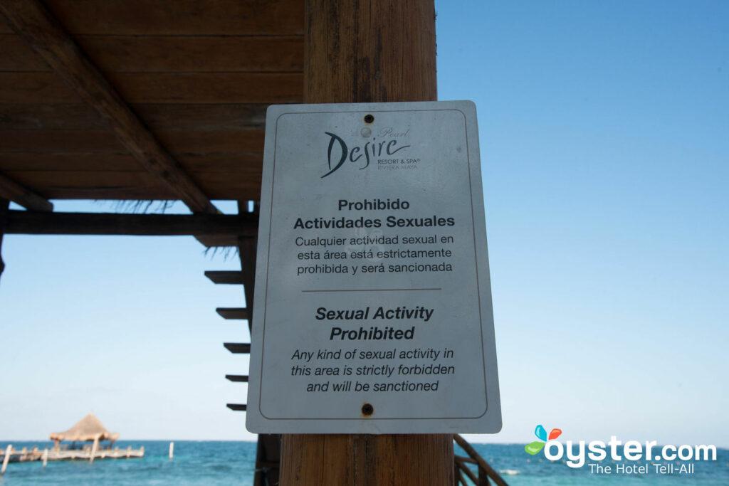 Règles de comportement sexuel au Désir Riviera Maya Pearl Resort