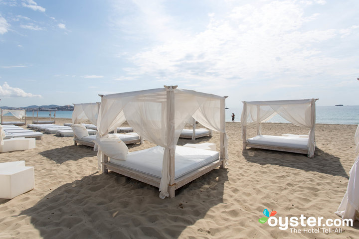 Beach Bali beds for post-party chill-out -- Ushuaia Ibiza Beach Hotel