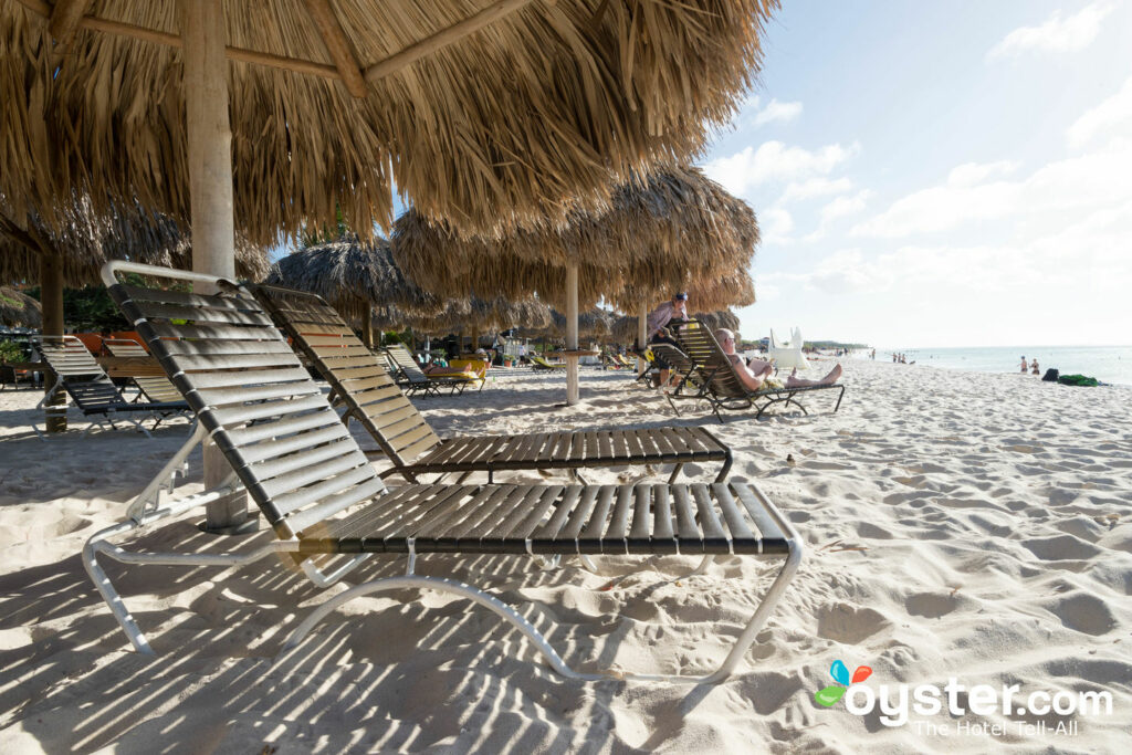 Beachside loungers at Amsterdam Manor