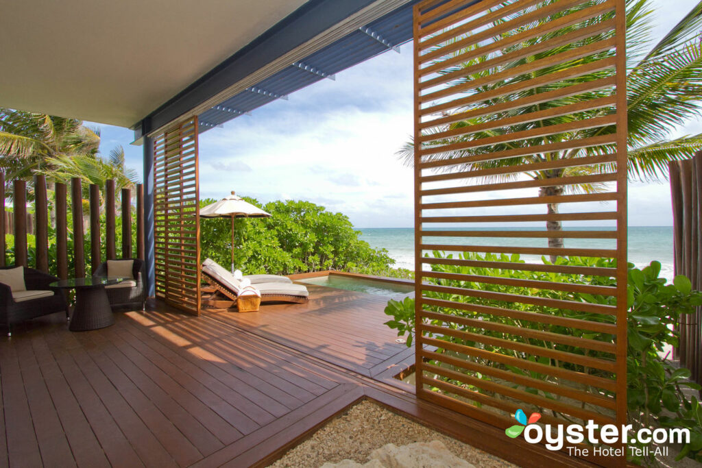 The Beachfront Studio Suite en el Rosewood Mayakoba