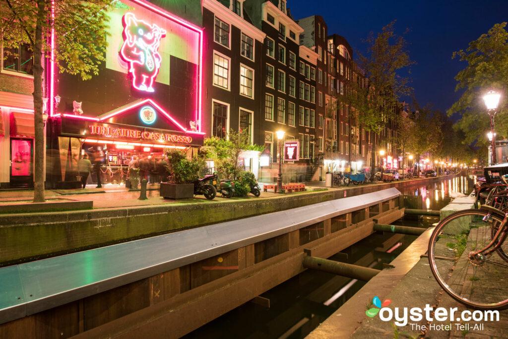 Peep-Show-Theater in Amsterdam De Wallen.