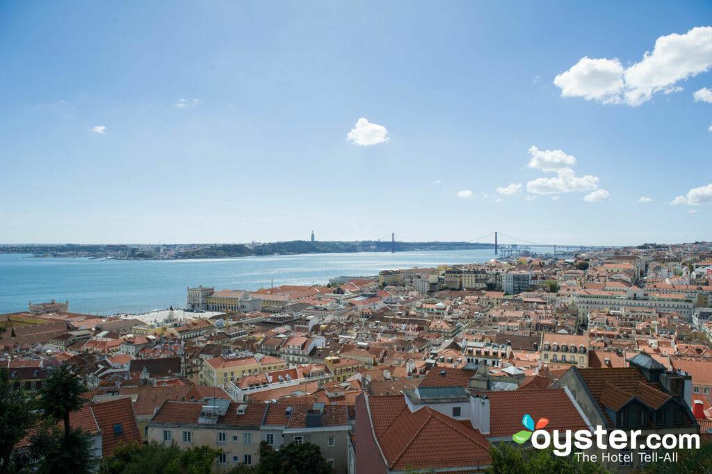 Lisbon view from Castelo de Sao Jorge in the Alfama
