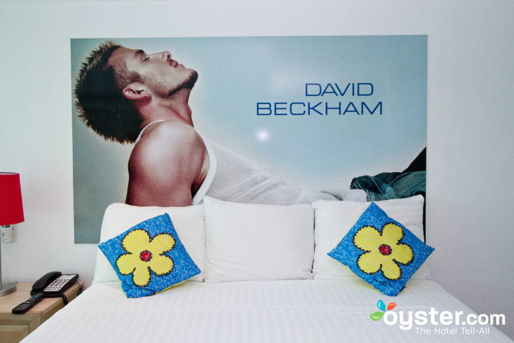 The David Beckham Room at the Mayafair Design Hotel