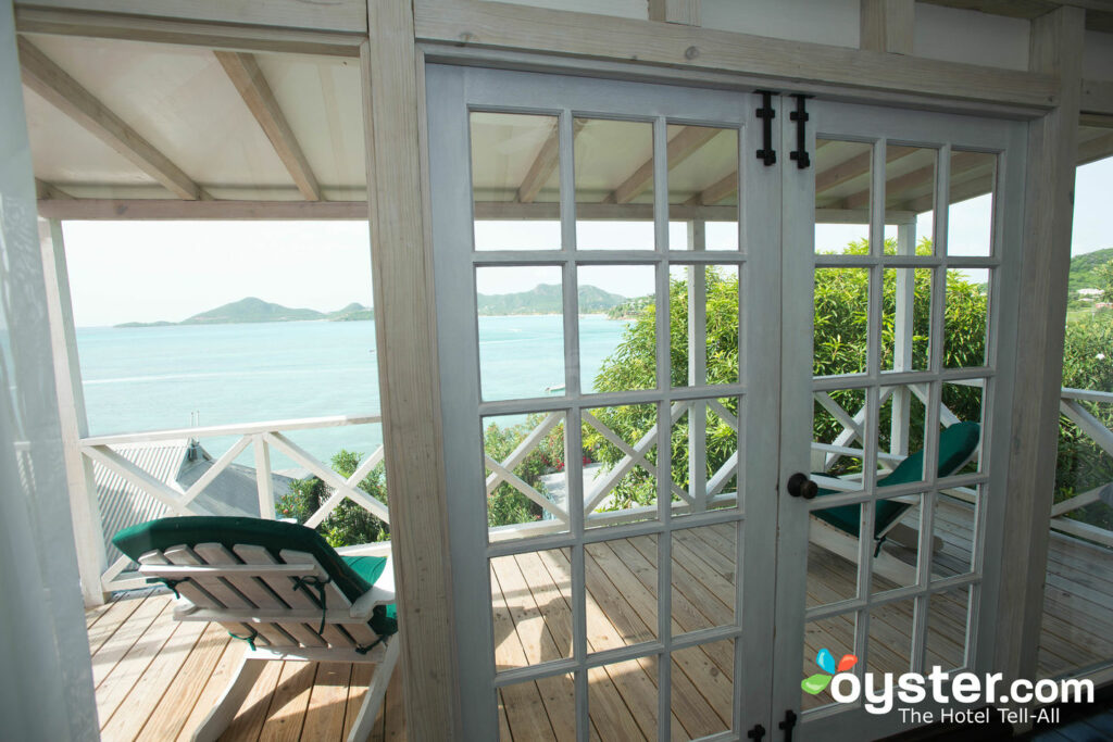 View from the Bedroom of the Deluxe Cottage at Cocobay Resort