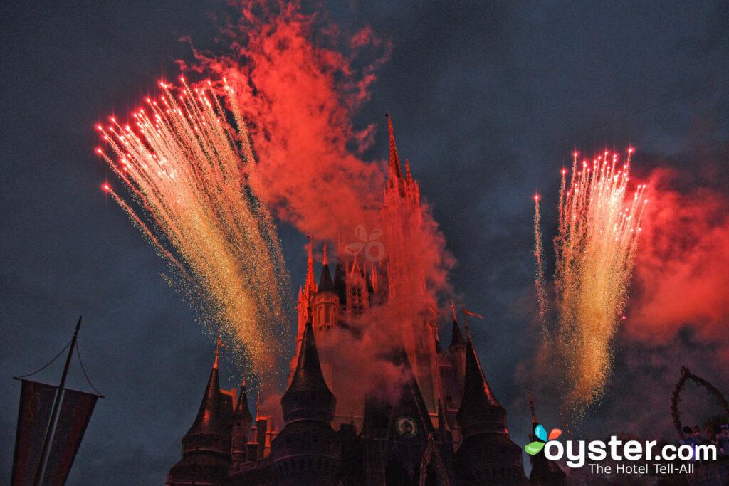 Fuegos artificiales sobre el mundo mágico de Disney / Oyster