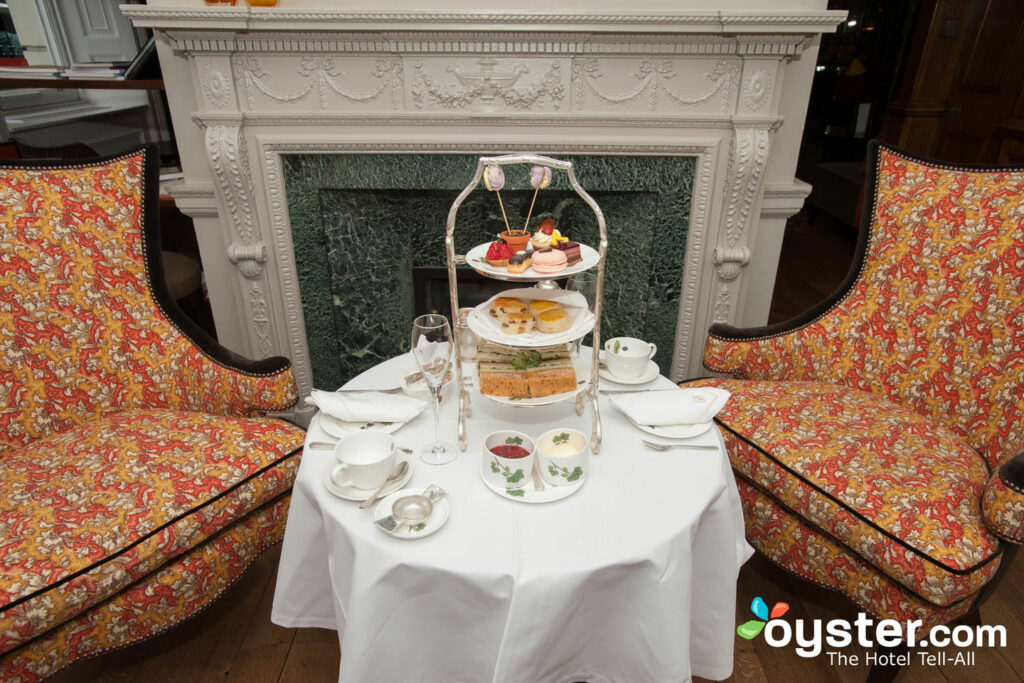 English Tea Room at Brown's Hotel, London/Oyster