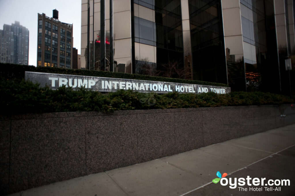 Entrance at the Trump International Hotel And Tower