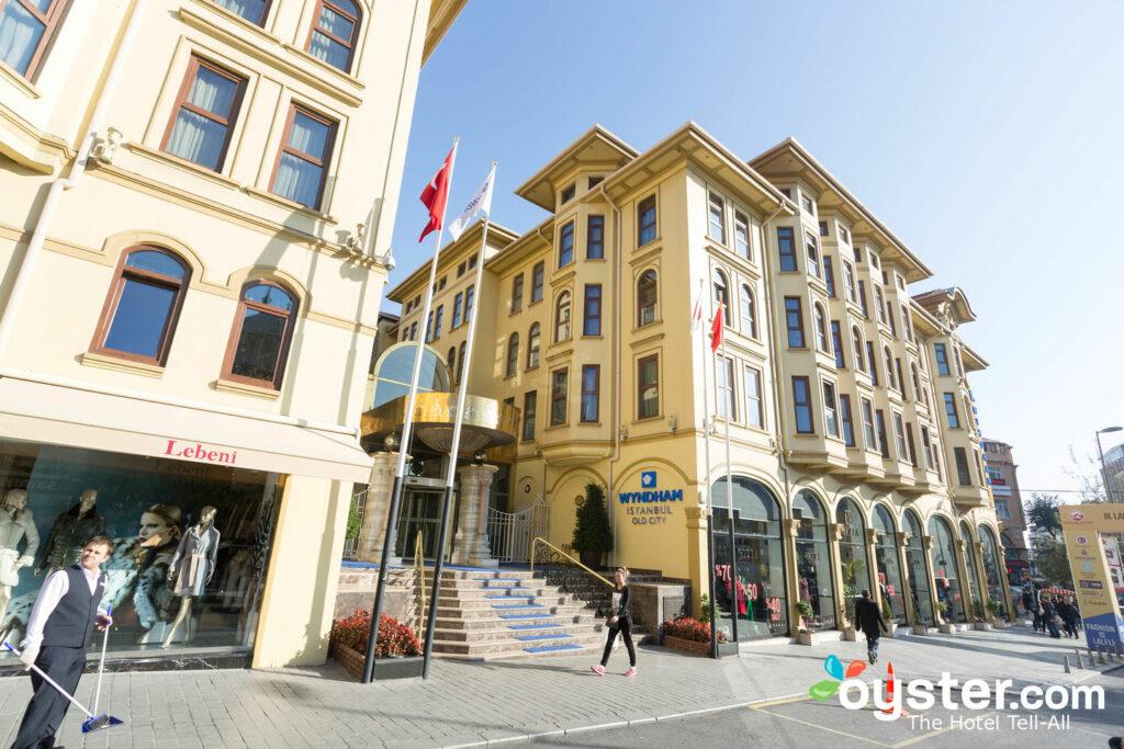 Entrada, em, a, wyndham, istambul, cidade velha, em, istambul