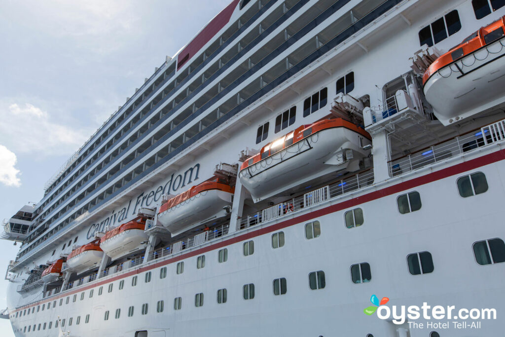 Exterior of Carnival Freedom/Oyster