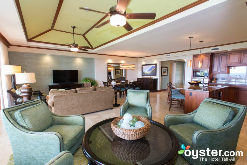 The living room of the four-bedroom penthouse.