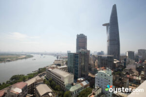 View of Ho Chi Minh City from a Restaurant