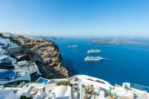 Grounds at Aeolos Studios & Suites, Santorini/Oyster