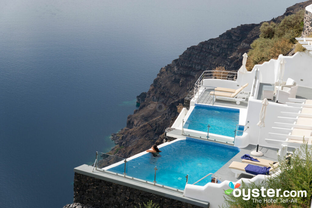 Vertigo-inducing View from Pegasus Suites & Spa, Santorini