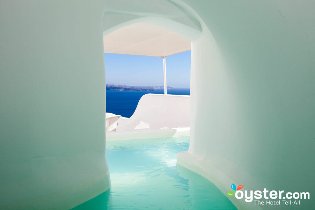The Canaves Oia Hotel is one hotel option with a package deal available through Costco Travel.